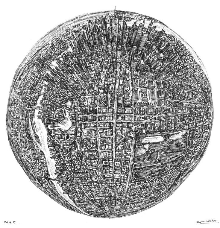 Globe of Imagination - drawings and paintings by Stephen Wiltshire MBE