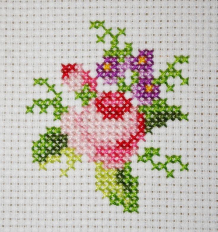 Rosenstrauß gestickt www.snorri.de
