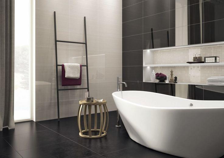 Latest Nice Bathroom Ideas with Contemporary Minimalist Bathroom Design in Awesome Cream Black Color to Create Dream Bathroom Model