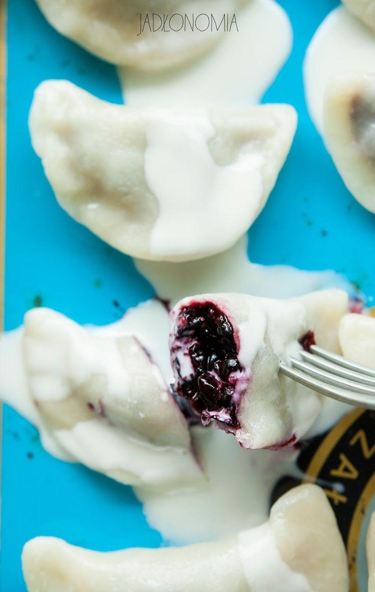 Blueberry pierogi   sweet European dumplings
