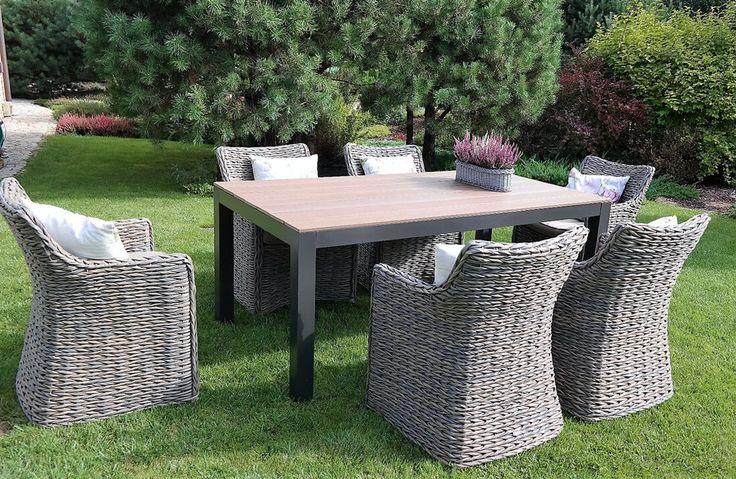 Eastborn - meble ogrodowe technorattan zestaw stołowy 230 cm - Twoja Siesta