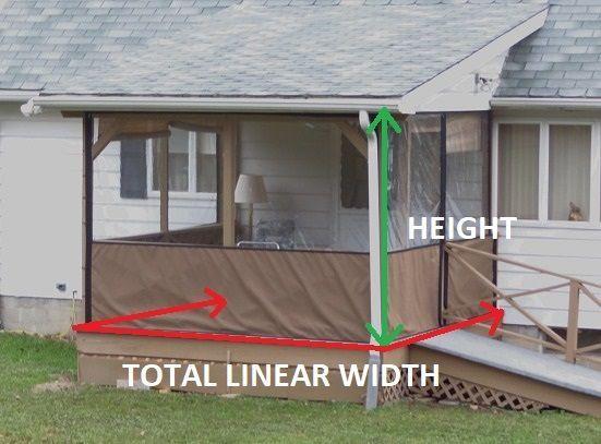Clear Vinyl Plastic Panel Enclosures For Porch Patio