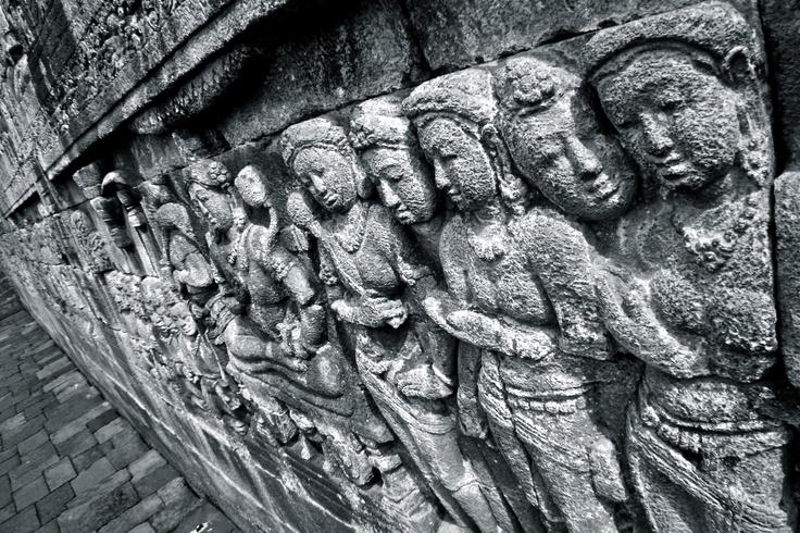 Faces #Borobudur #indonesia #temple #buddhism #Java #bw