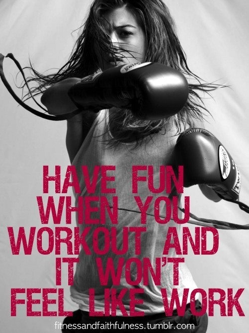 That's what I've been saying!! Working out should be fun!! Yay burpees!!! ;)