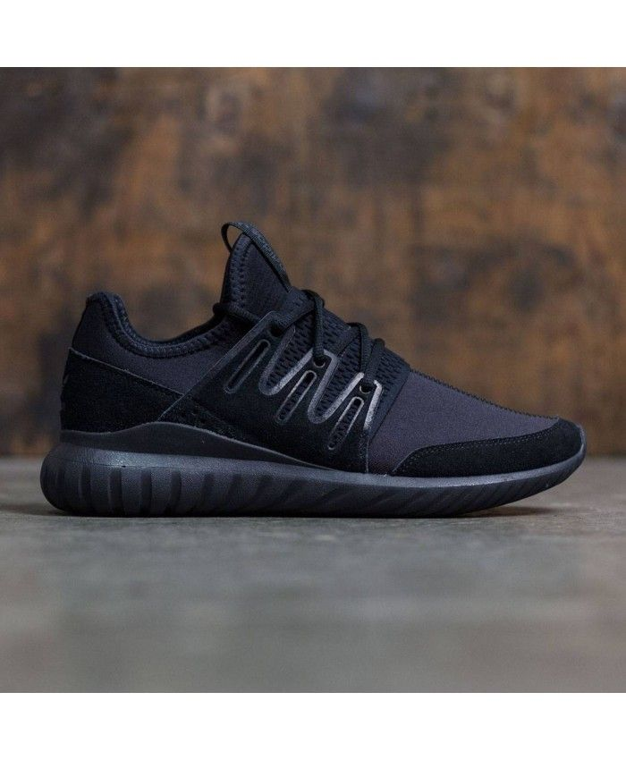 Adidas Mens Tubular Radial All Black Shoes Adidas Tubular Mens