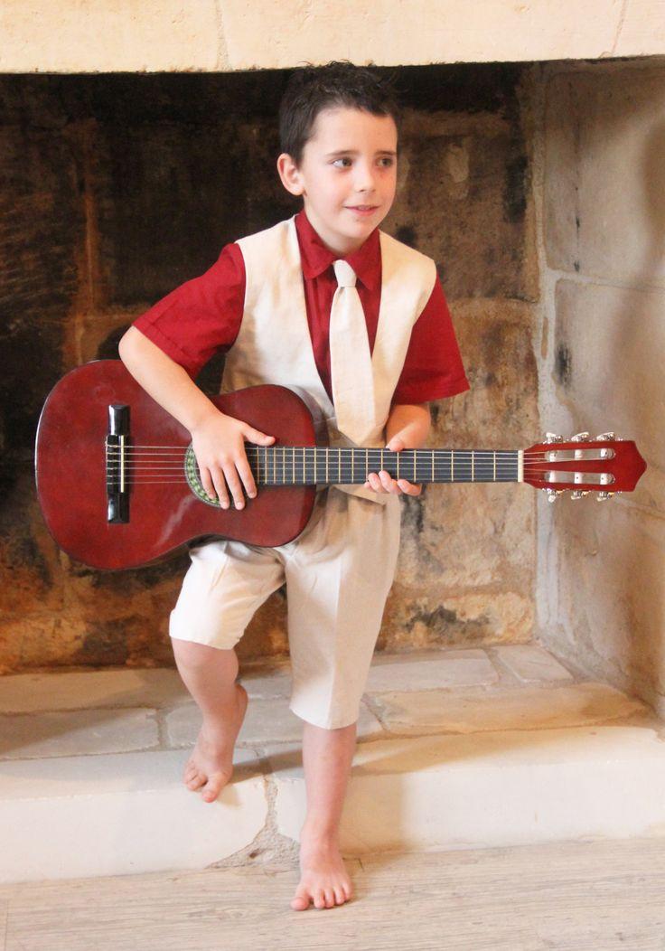 """Ensemble """"Théo"""" pour vos cérémonies et mariages. Enfant d'honneur.  http://www.odecreation-vetements.com/"""