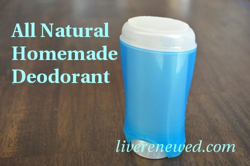 DIY Naturall Homemade Deodorant tutorial from LiveRenewed.com
