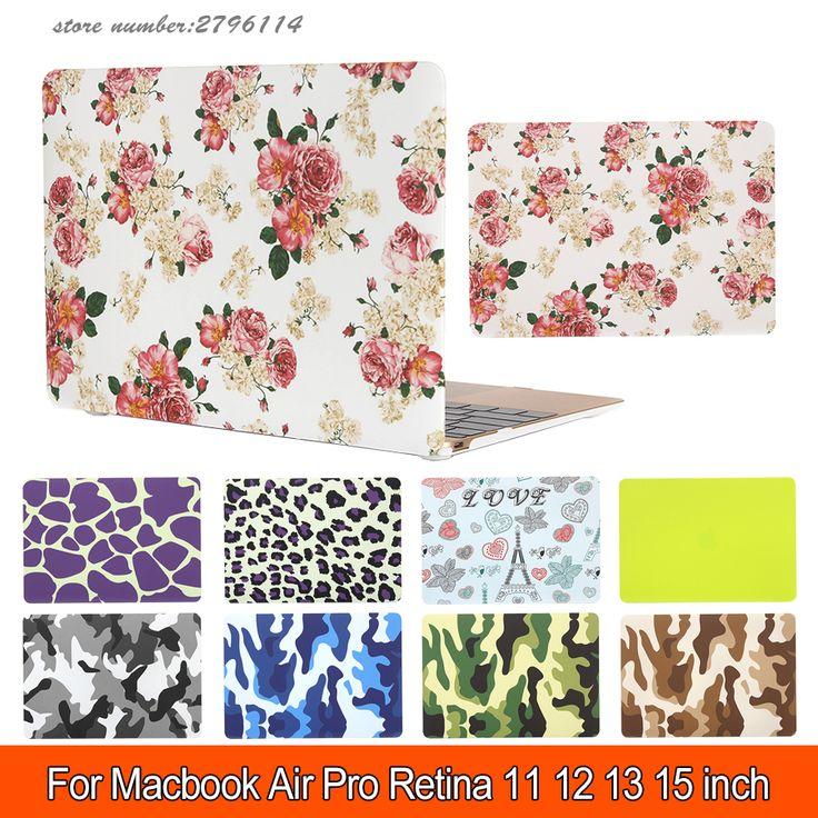 Flower Matte Hard Protector Case for Macbook air 11/ 13 inch,cover for Macbook Pro 13 /15 inch for Macbook Pro Retina 12 13/15 #Affiliate