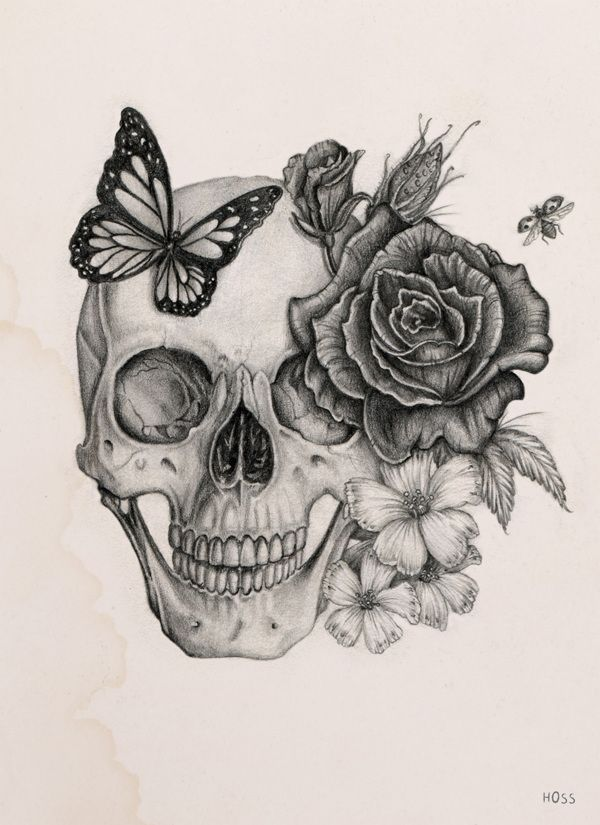 Rose&Skull by Boudos Simon, via Behance