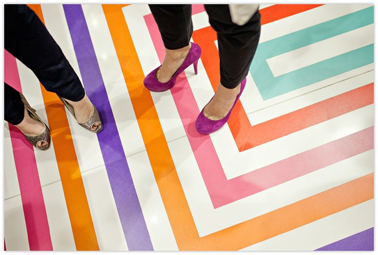 #yearofcolor stripe floor at a kate spade new york shop