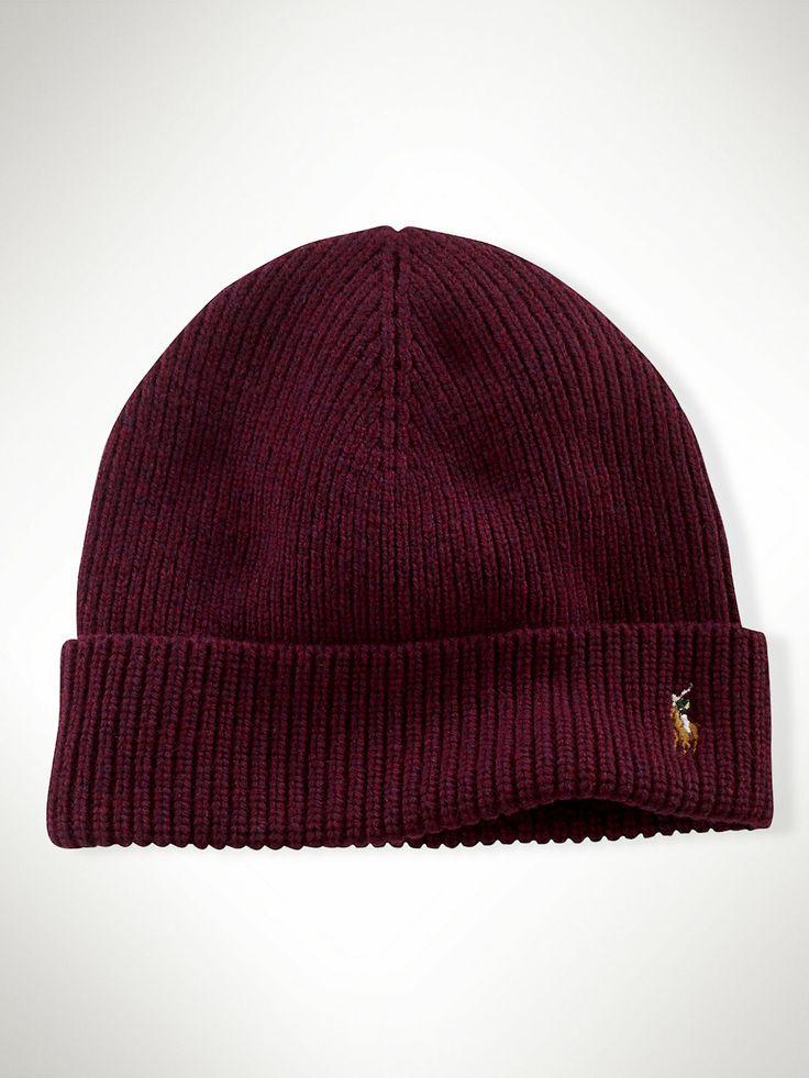 Signature Cuffed Merino Hat - Hats  Hats, Gloves & Scarves - RalphLauren.com