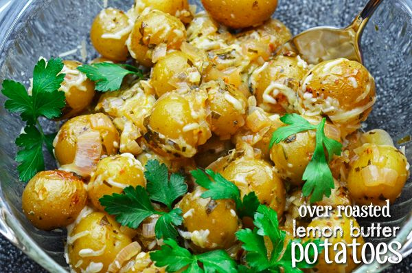 Greek inspired lemon butter potatoes!! This will be a great change to ...