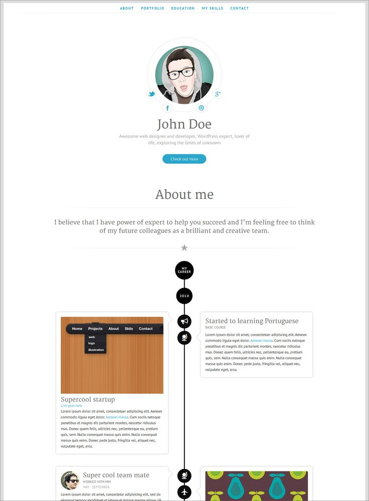 The 25+ best Online cv ideas on Pinterest Online cv template - wordpress resume theme
