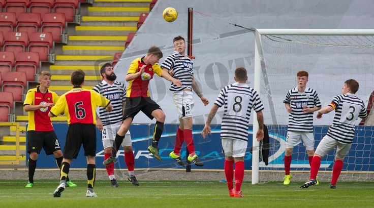 Queen's Park's Adam Cummins in action during the IRN-BRU Cup game between Partick Thistle Colts and Queen's Park.