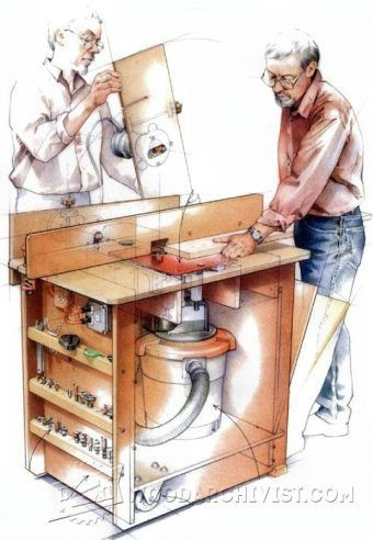 150 best router images on pinterest woodworking tools and horizontal router table plans router tips jigs and fixtures woodarchivist greentooth Images