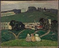 A Tangiers landscape || Un paysage à Tangiers || Tanger, paysage, 1912 James Wilson Morrice || Landscape, Tangiers, 1912 James Wilson Morrice