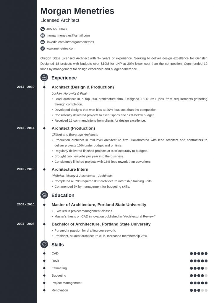 Architectural Resume For Internship 2021 In 2021 Resume Internship Architecture