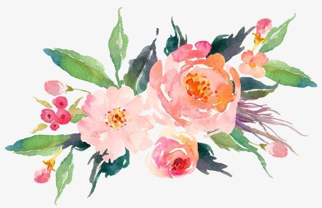 Vintage Watercolor Pink Flower Elegant Watercolor Clipart Flower Clipart Watercolor Png Transparent Clipart Image And Psd File For Free Download Desenhos De Flores Flores Pintadas Aquarela Floral