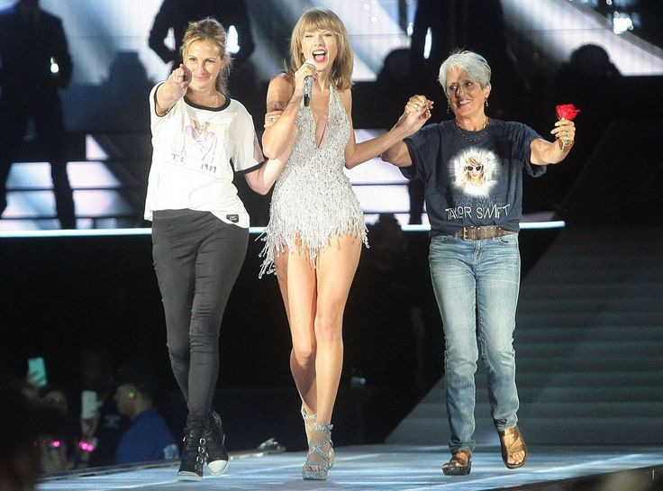 Inside Taylor Swift's Star-Studded 1989 World Tour: How She's Getting All Those Celebs (Like Julia Roberts) On Stage!  Taylor Swift Concert, Joan Baez, Julia Roberts