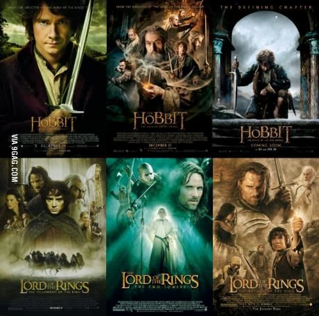 Image result for lord of the rings and The hobbit movie