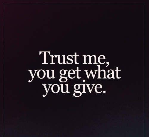 Trust me – Not just Words