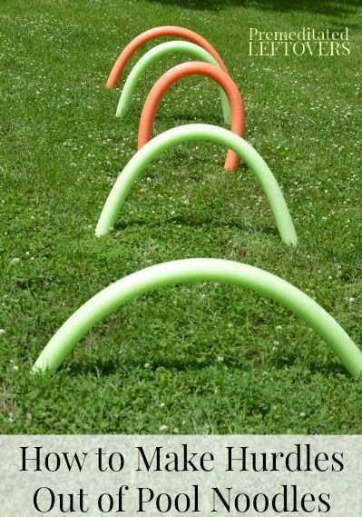 How to make pool noodle hurdles for kids - these make a great addition to a backyard obstacle course for kids.