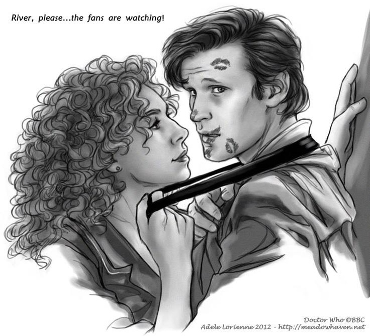 Doctor Who fanart: River Song and The Doctor. Hello, Sweetie  by `Saimain  http://saimain.deviantart.com/