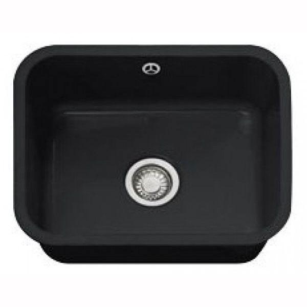 Franke Black Undermount Sink : Franke VBK VBK110-50 Ceramic Kitchen Sink, 1.0 Bowl, Undermount, Black ...
