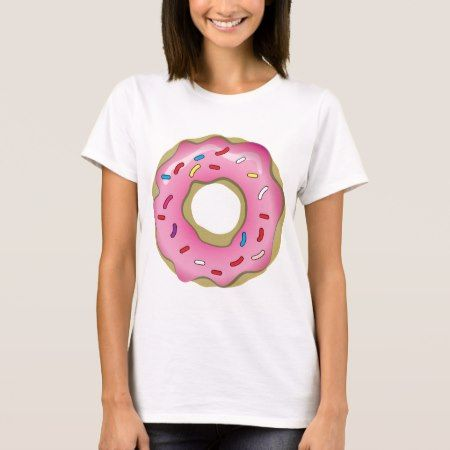 Yummy Donut with Icing and Sprinkles T-Shirt - click/tap to personalize and buy