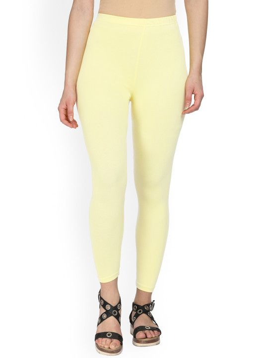 28a83db7a10b8a Alena Women Yellow Skinny-Fit Ankle-Length Leggings - | 349 | Leggings &  Jeggings in 2019 | Pinterest | Leggings, Jeggings and Ankle length leggings