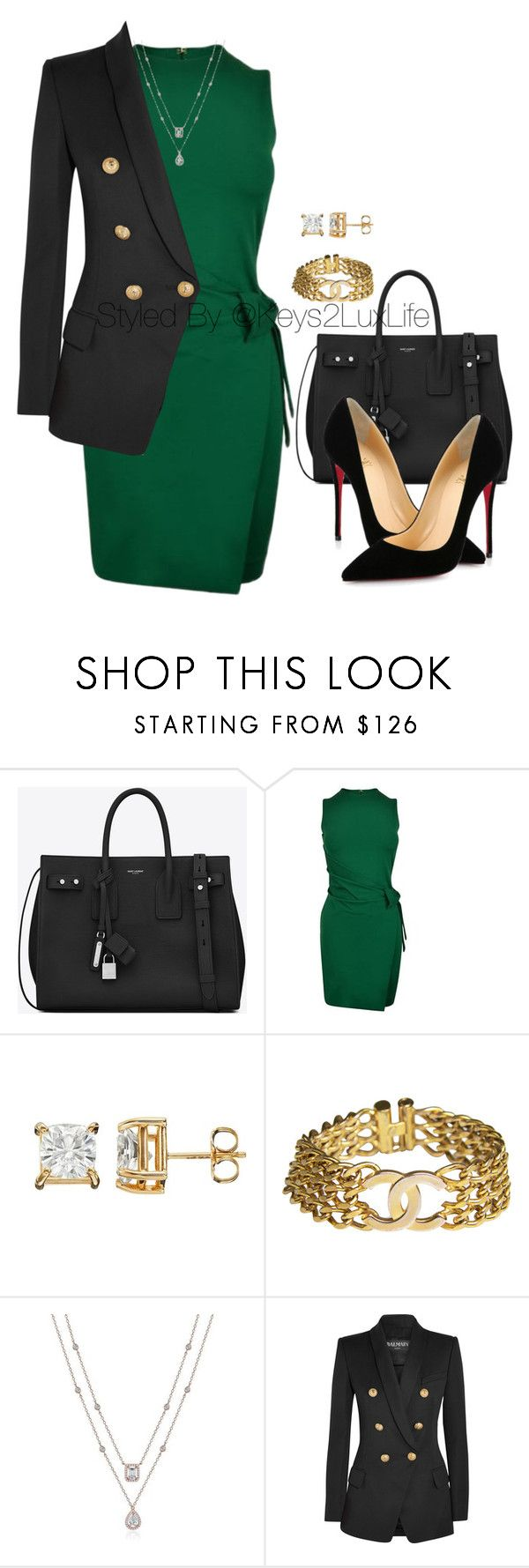 """Interview"" by keys2luxlife ❤ liked on Polyvore featuring Yves Saint Laurent, Dsquared2, Chanel, Balmain and Christian Louboutin"