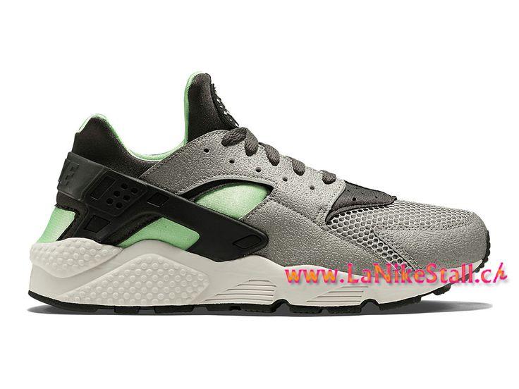 Nike Air Huarache Run Officiel Basket Pas Cher Chaussures Pour Homme Gris Vert 318429-013