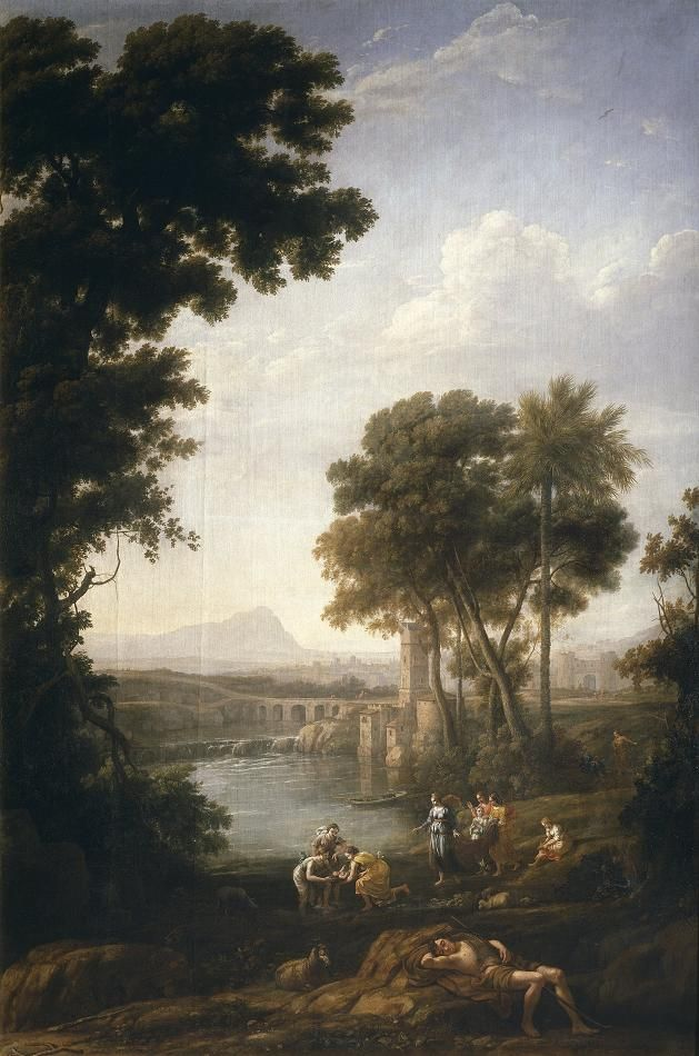 Claude Lorrain. Landscape with Finding of Moses. 1638.
