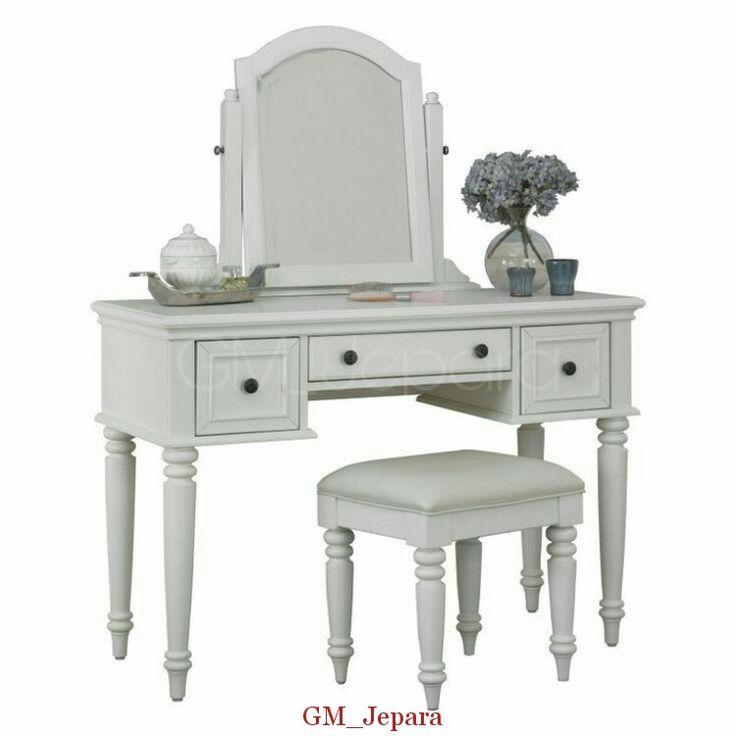 Meja Rias Putih Minimalis Anggun, meja rias anak, meja rias putih, meja rias kecil, meja rias, meja rias minimalis, jual meja rias murah, model meja rias terbaru, dresser
