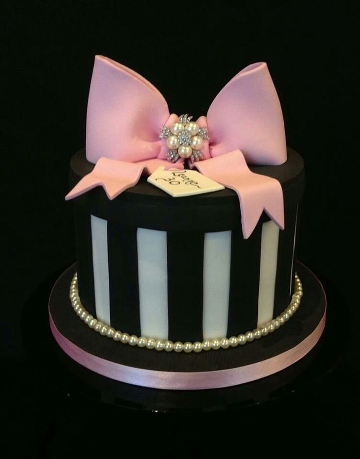 A Very Elegant Birthday Cake Gift Box Pinterest