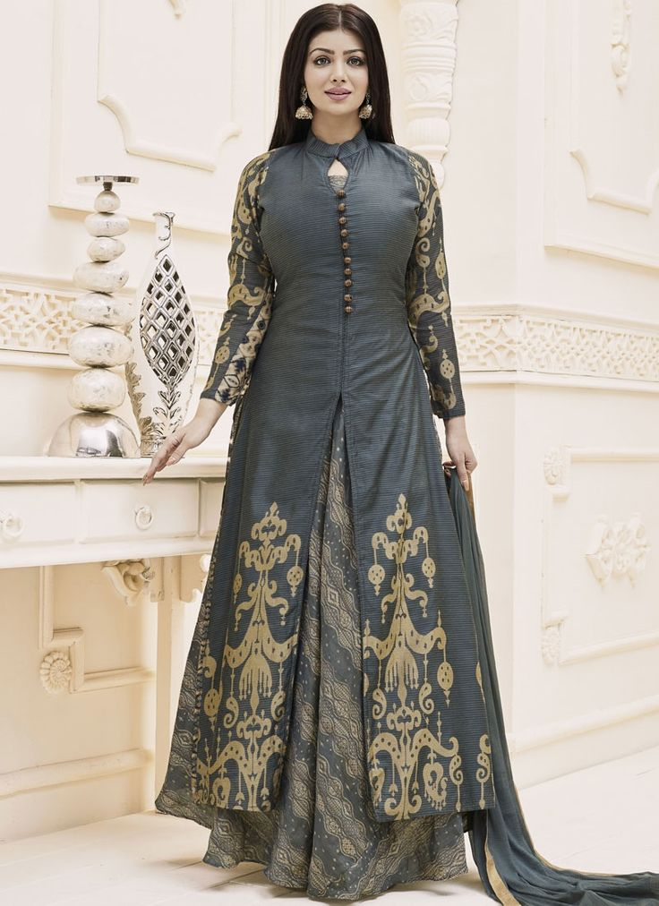We have an exhaustive range to give you a pleasurable online shopping experience of bollywood salwar kameez. Buy this transcendent Ayesha Takia floor length anarkali suit.