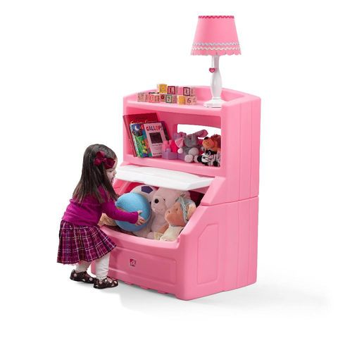 Inspirational Step Lift u Hide Bookcase Storage Chest Pink