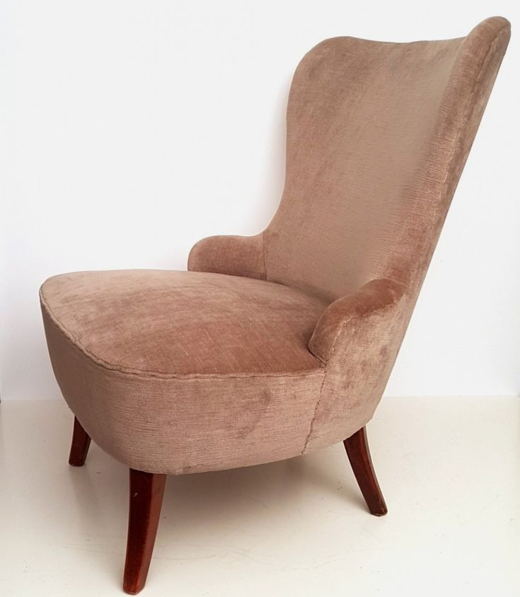Velvet lounge chair by Theo Ruth for Artifort, 1950s