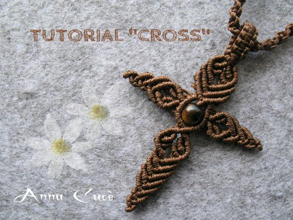 macrame tutorial Cross  Language: Italian, English   needed: 4.10 m polyester yarn from 0.5 1 Pearl 8mm    The photo tutorial shows all the steps on the implementation of the pendant. The document, a PDF, is composed from well 129 pages and 142 images. E preferable to the knowledge of the basic nodes.  The PDF can not be shared or printed. The file can not be reproduced for resale or redistribution to others.  downloadable PDF files will be available once payment is confirmed.