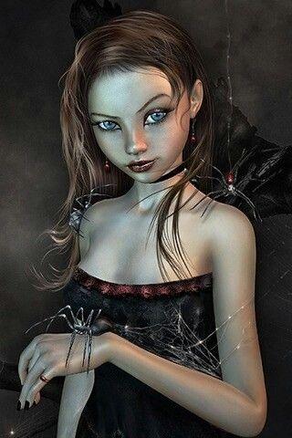 spiders  dark beauty fantasy halloween face makeup