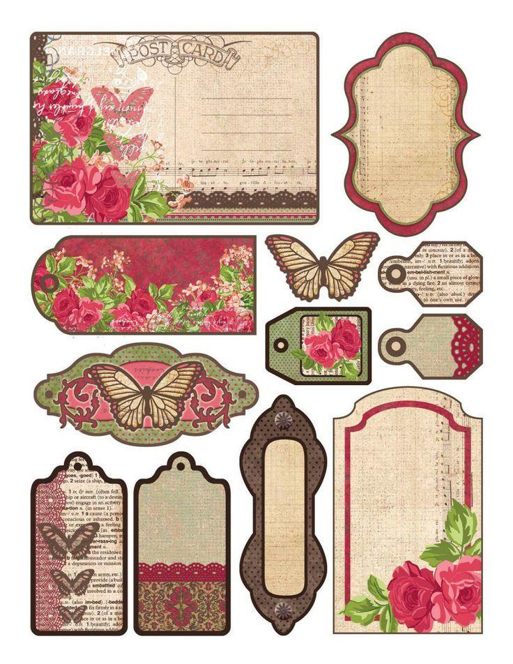 Набор мини открыток для надписей ручной работы