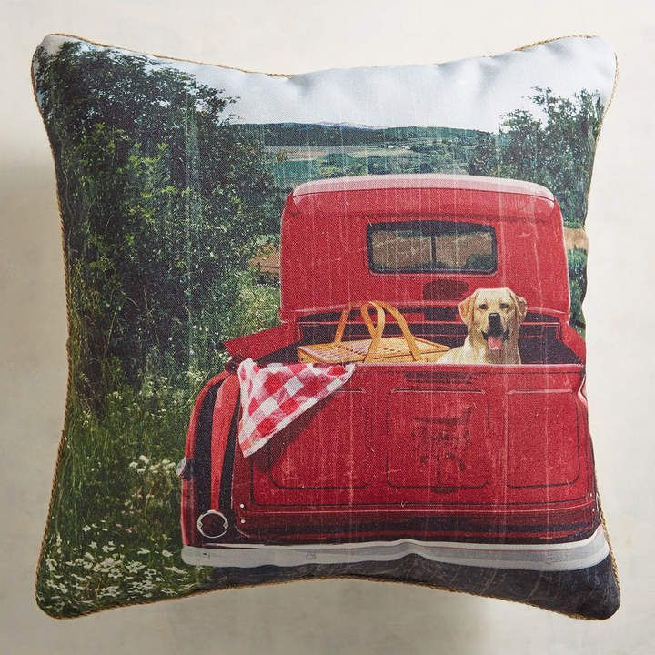 Pier 1 Imports 20 Picnic Truck Indoor Outdoor Pillow Pillow