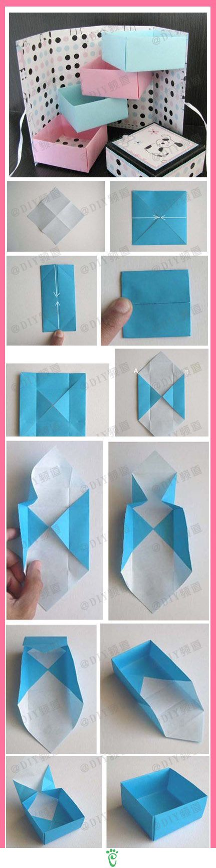 DIY Paper Box diy craft crafts easy crafts craft idea diy ideas home diy easy diy home crafts diy craft: