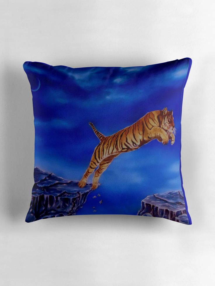 Throw Pillow,  home,accessories,sofa,couch,decor,cool,beautiful,fancy,unique,trendy,artistic,awesome,fahionable,unusual,gifts,presents,for,sale,design,ideas,blue,tiger,wildlife,animal,redbubble