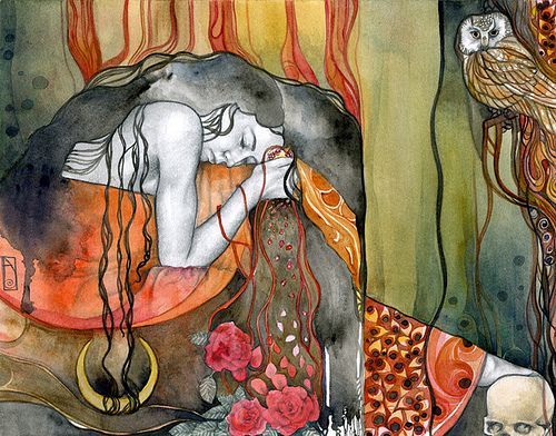 Persephone | Watercolor and pencil on illustration board, 10… | Flickr