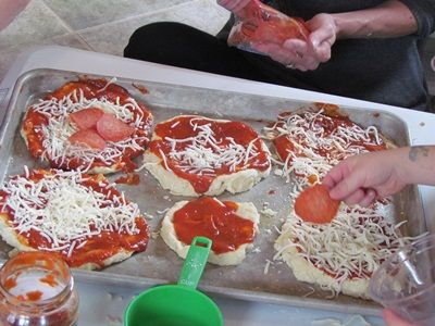 "Read ""Pete's Pizza"" and make your own pizza pie - great hands-on cooking activity for skills like following step by step directions"