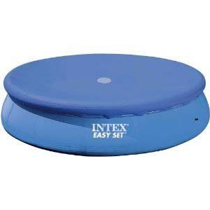 Intex 12 ft. Metal Frame Above Ground Pool Cover  Cover is made of durable 7 gauge vinyl  Includes rope ties as well as drain holes to prevent water accumulation  Compatible with 12-ft. Metal Frame Intex pools  10-in. of overlap protection