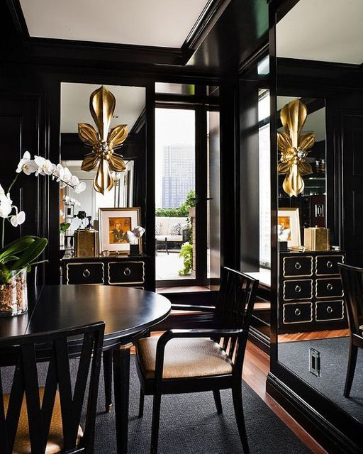 Black And Gold Dining Room I Spy A Possible DIY Ikea Hacked Dresser
