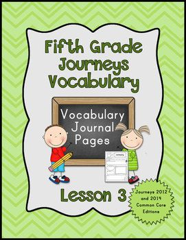 24 best journeys for 5th grade images on pinterest journeys journeys fifth grade vocabulary journal pages lesson 2014 common core edition fandeluxe Images