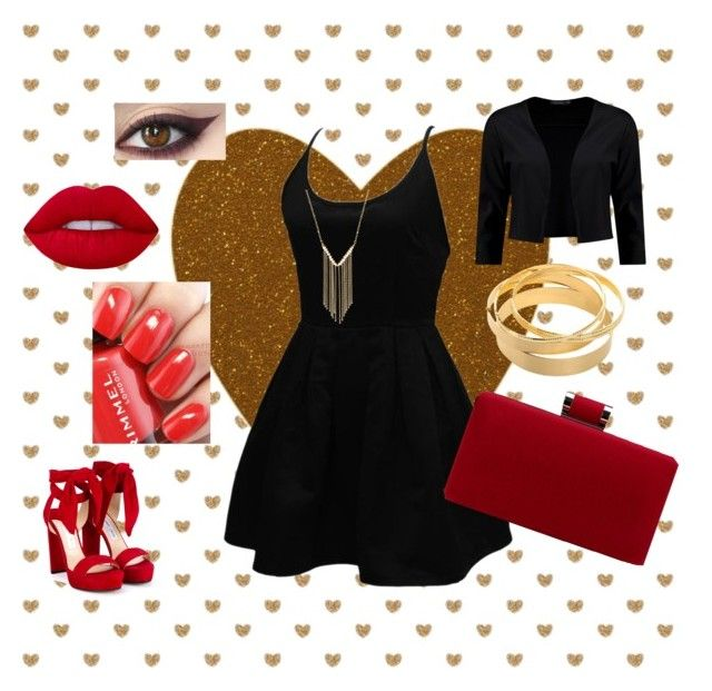 """""""Untitled #46"""" by kixkeen on Polyvore featuring WithChic, Jimmy Choo, Rimmel, Lime Crime, Boohoo and Gemelli"""